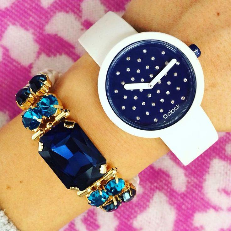 Spedizione gratuita Oclock Cristal €29 Bracciale €46,60 #manlioboutique Info: WhatsApp 329.0010906 #oclock #watches #fullspot #accessories