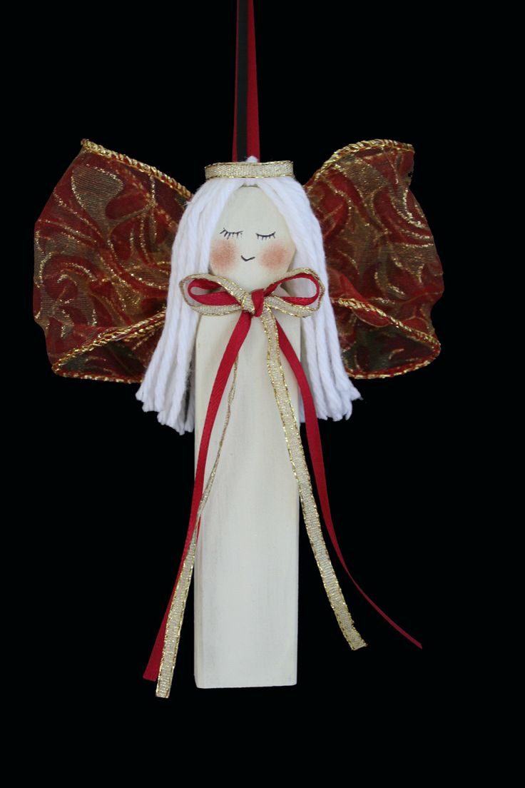 Snowbaby ornaments - Cute Wooden Angel Ornament