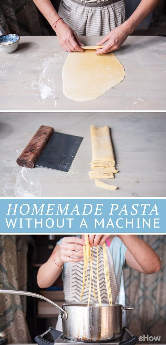 Don't have a fancy pasta maker at home? That doesn't mean you can't have fresh, light pasta for dinner! All you need is flour, salt, eggs, a rolling pin and a dough scraper! Trust us, this is worth it! Recipe here: http://www.ehow.com/how_5033915_make-homemade-pasta-machine.html?utm_source=pinterest.com&utm_medium=referral&utm_content=freestyle&utm_campaign=fanpage