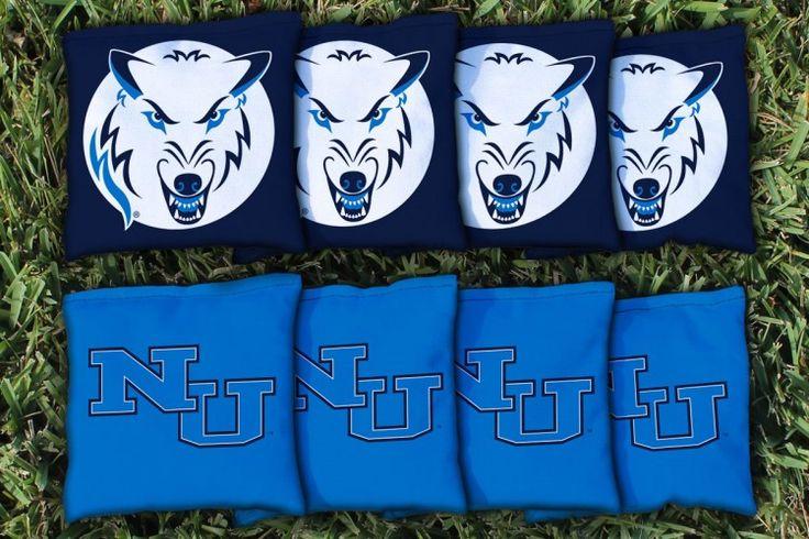 Cornhole Bag Logo Set - Northwood University Michigan Timberwolves 29420