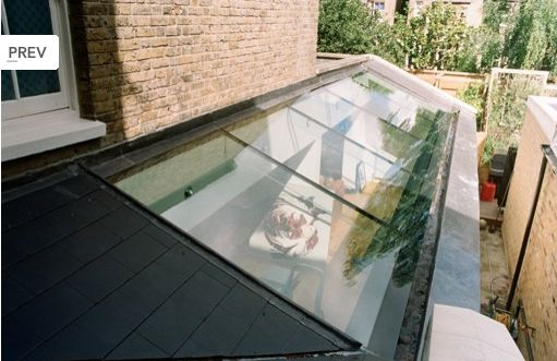 Lovely side return glass roof