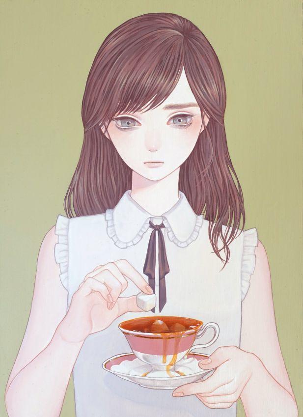 「過多」 紺野真弓 Mayumi Konno 2015 242x333mm キャンバスにアクリル Acrylic on Canvas