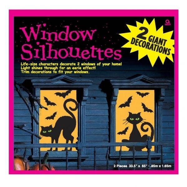 Katten & Vleermuizen Raam Silhouettes