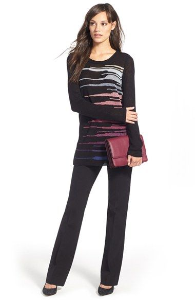 NIC+ZOE Sweater & NYDJ 'Michelle' Trousers available at #Nordstrom  I like the look and I already have those pants.  ;)
