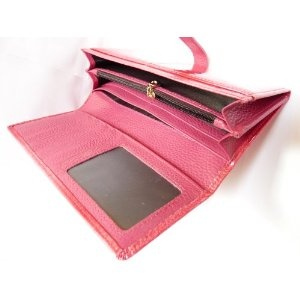 Glossy Genuine Leather Women's Wallet