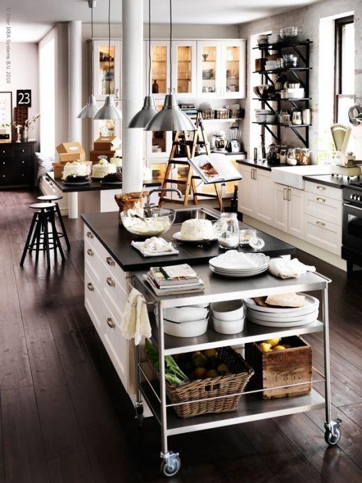 Kitchens Interiors, Kitchens Design, Dreams Kitchens, Ikea Kitchen, Living Room Design, Islands, Design Kitchens, White Cabinets, White Kitchens