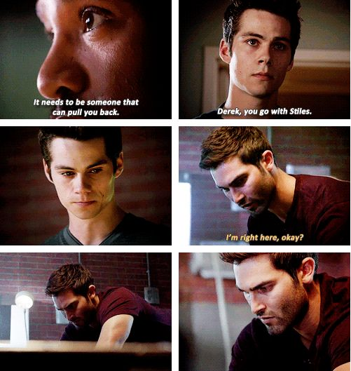 Teen Wolf Season 3 - au: derek is stiles' emotional tether