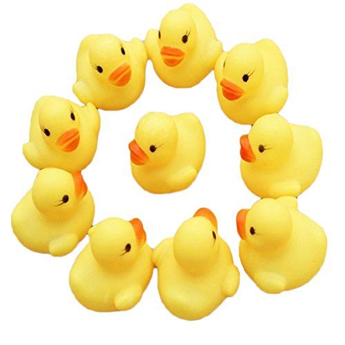 SMARTLADY 12 piezas Pato de Goma Juguetes de Baño para Bebés Ducha