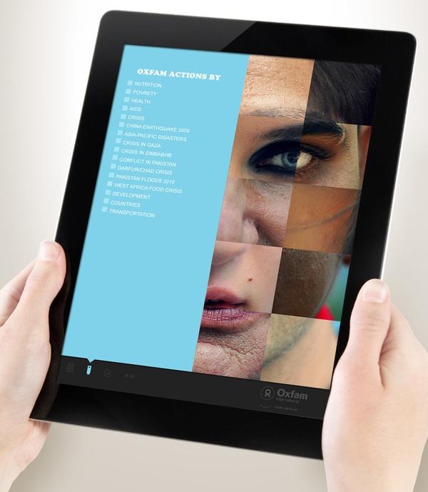 OXFAM iPad app