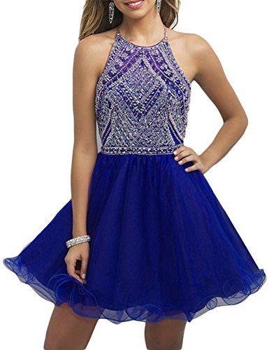 OYISHA Womens Backless Beaded Prom Dress 2016 Homecoming!!