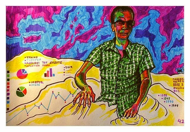 """"""" mad scientist travelling"""" - markers on paper"""