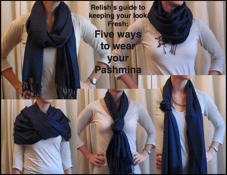 5 ways to wear a pashmina