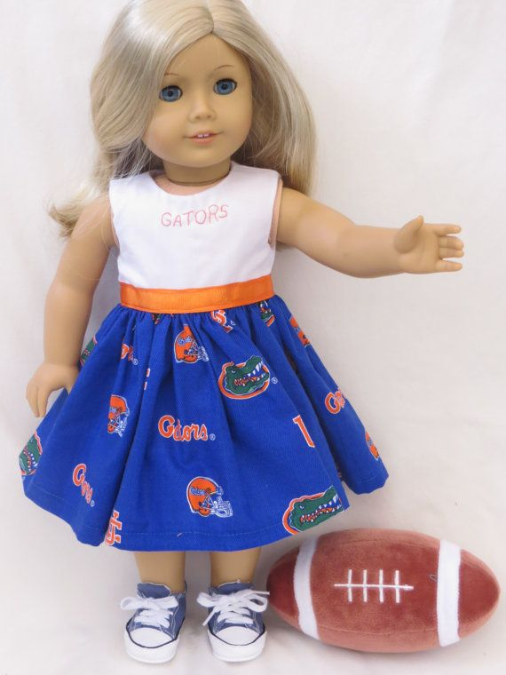American Girl Univeristy of Florida Doll Dress on Etsy, $13.99
