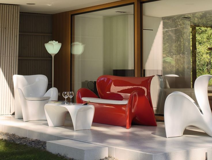 LILY COLLECTION  by MYYOUR www.myyour.eu  #myyour #outdoor #italian #design #table #sofa c#chair #lighting #lily #white #red #babylove #creativity #waterproof