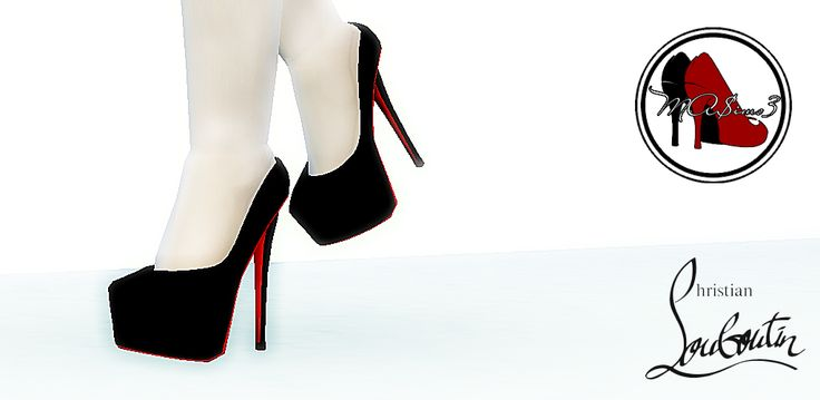 MA$ims 3: FIRST EVER TS4 3D Shoes! 3D Christian Louboutin Daffodile 160mm Pumps