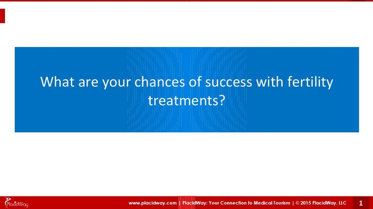 What are your chances of success with #FertilityTreatments ?