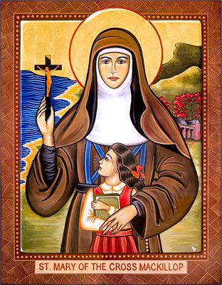 Icons by Marice - Icons of Our Lady, Christ, Saints and Angels to Churches---St. Mary Mackillop