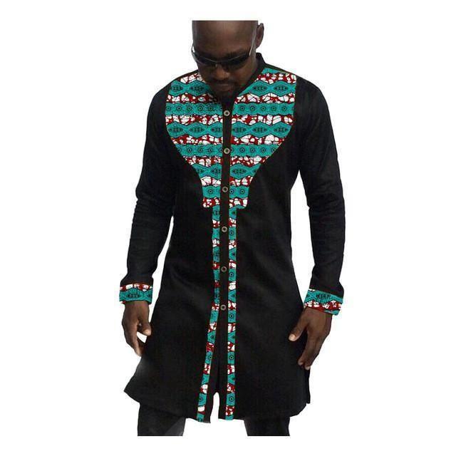 African Mens Shirts Fashion Kitenge Dashiki Shirt Men African Clothing