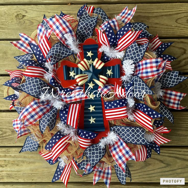 Memorial Day, Fourth of July wreath by Wreaths to Adoor