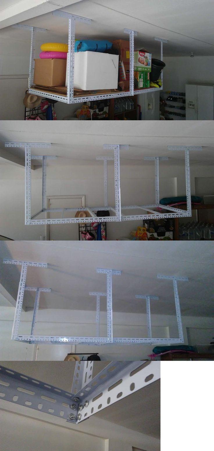 Other Home Organization 20621: 48 W X 96 L Big Overhead Storage Rack Garage Ceiling Mount Adjustable Shelves -> BUY IT NOW ONLY: $89 on eBay!