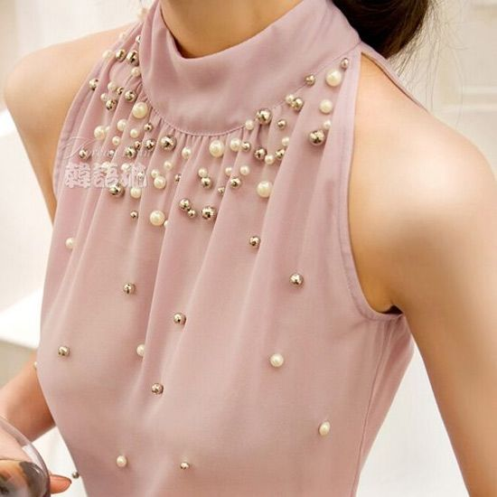 Inspiração: blusinhas com pérolas Mais