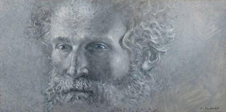 Filosofo,,olio su tela di ANGELO VADALA'