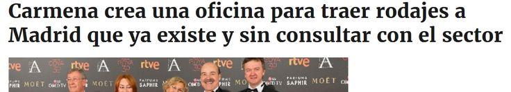 """El pasado 6 de julio, la delegada de Cultura y Deporte del Ayuntamiento de Manuela Carmena, Celia Mayer, anunciaba a bombo y platillo """"una Film Office para gestionar los rodajes en la ciudad"""" - El gobierno de Ahora Madrid no ha consensuado nada con el sector. No ha habido reuniones con las asociaciones antes de un anuncio que parece precipitado por parte de Mayer. En las filas de la oposición dicen directamente que """"no hay plan"""" - OK Diario 14/7/16"""