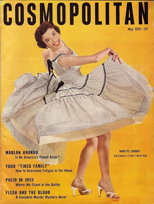 Nanette Fabray on the cover of Cosmopolitan, May 1955