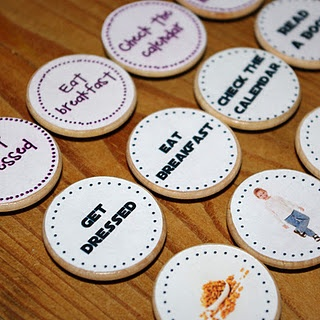 DIY wooden nickle chore magnets. #kids #chores #magnets