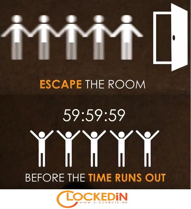 Once you get inside the #LiveEscapeRoom, remember every minute matters! Open this link now!! http://www.clockedin.dk/