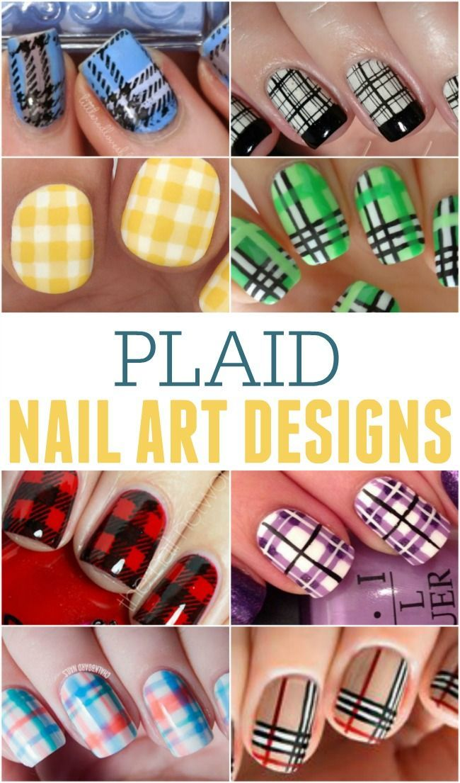 Plaid Nail Art Designs … perfect to be on trend this fall