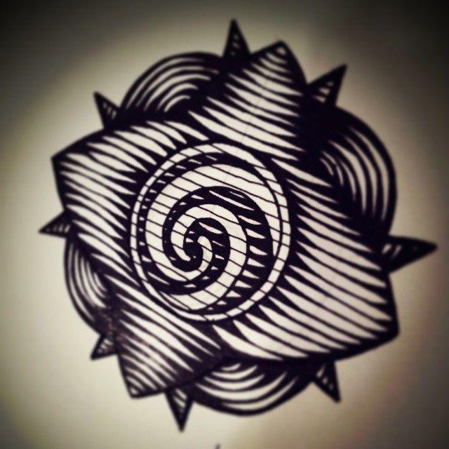 Custom drawing, Natives Borneo Bunga terung, style line scrapper. by Prettyfishink! 2014