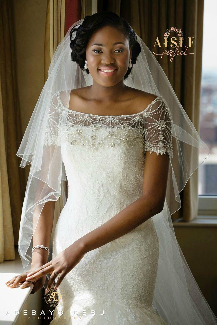 Church white wedding dress nigerian brides by for Dresses for church wedding