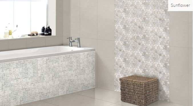 Escarpment Sunflower Room Inspiration #mosaic #tile #roominspiration #bathroominspiration #homeinspiration #faberstoneandtile