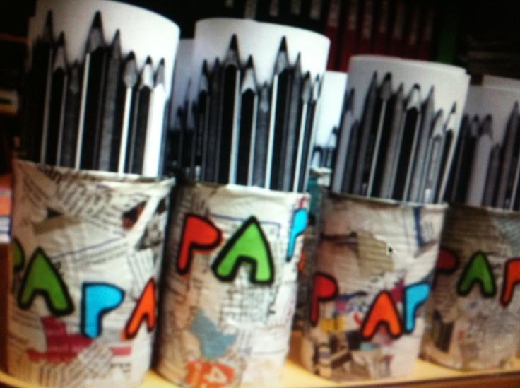 Pot à crayons fête des pères.