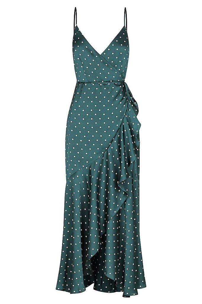 Martina Cocktail Wrap Dress | Emerald/Ivory | Dresses | Shona Joy | Shona Joy In...