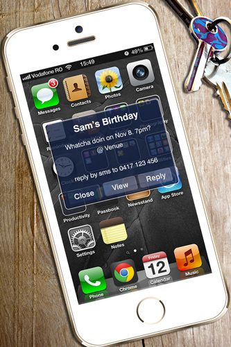 iphone birthday party digital printable invitation template text