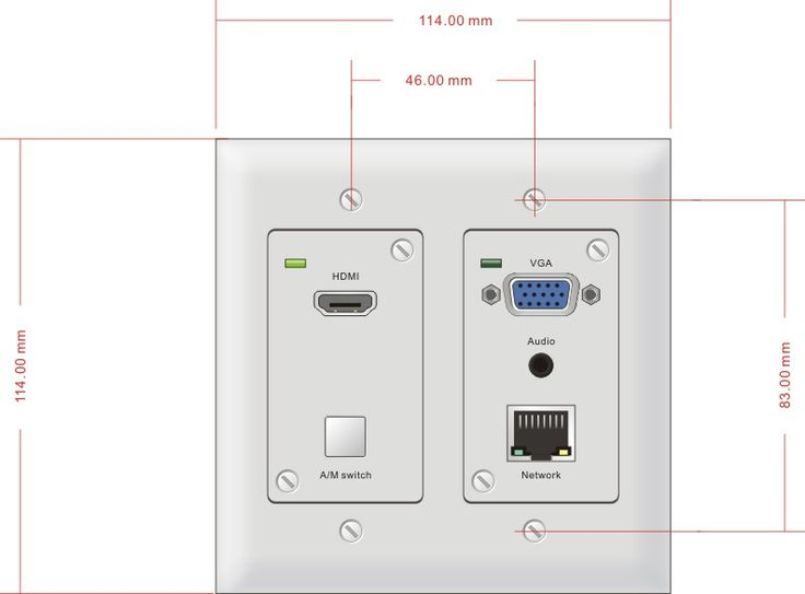 PTN's NEW HDBaseT Wall Plate Transmitter with auto switcher works with TPHD402 and 403 receivers