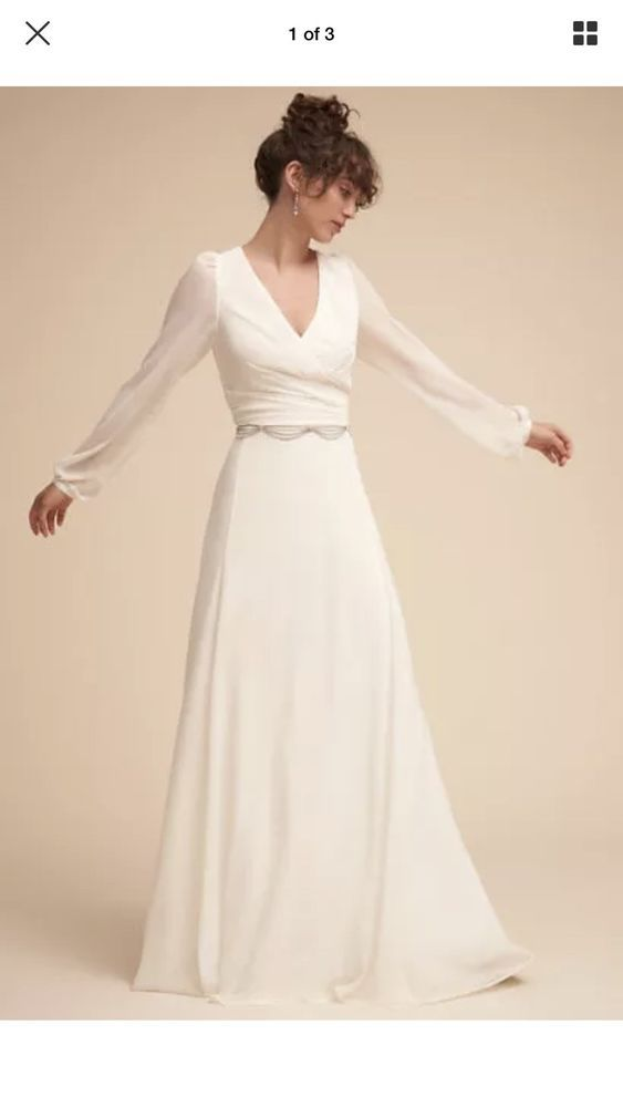 Anthropologie Bhldn Wedding Dress Nwt Size 8 Fashion Clothing