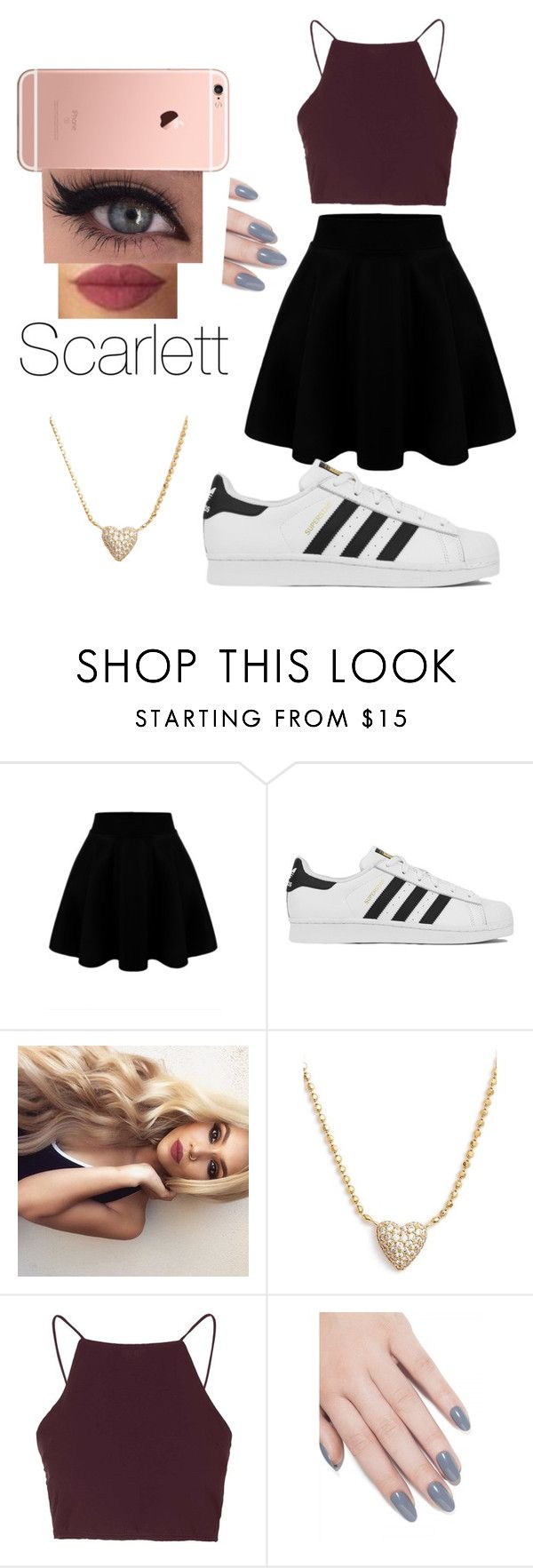 """scarlett"" by lauraederveen on Polyvore featuring adidas, Nadri, Topshop, ncLA, women's clothing, women, female, woman, misses and juniors"