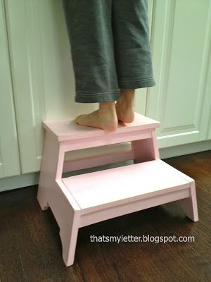 kids step stool made from scrap wood