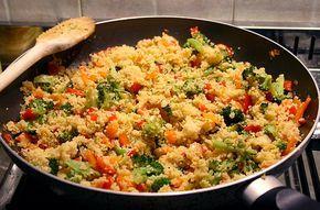 Cous Cous alle verdure un piatto sfizioso un po' diverso dal solito da fare più o meno light!