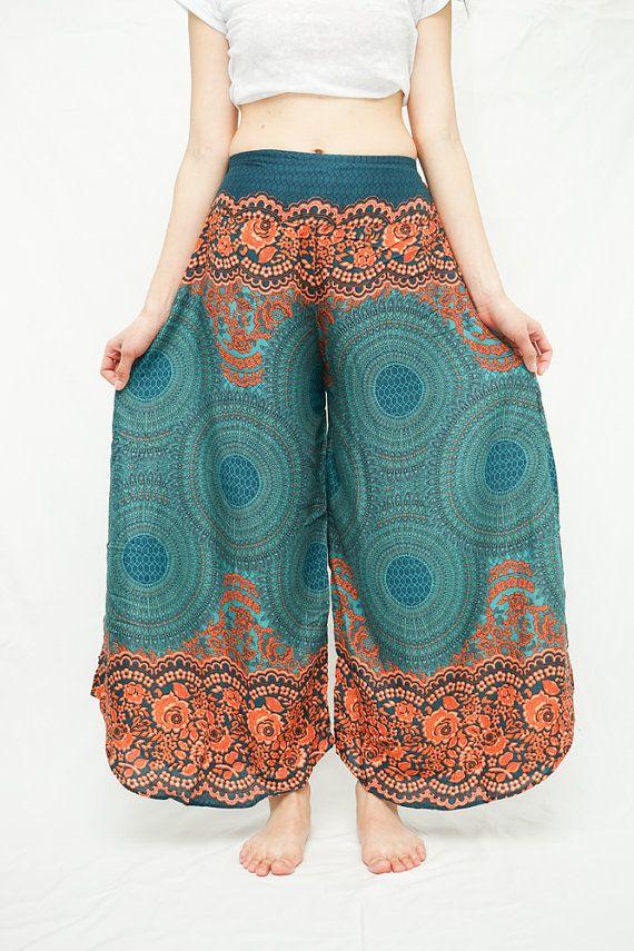 Gottex  wide leg Palazzo pants | Wide Leg Pants Palazzo Style Harem Pants Boho Bohemian Pants Beach ...