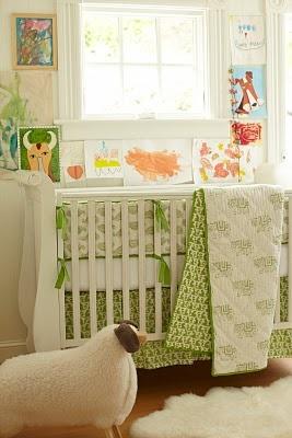 taj green crib set