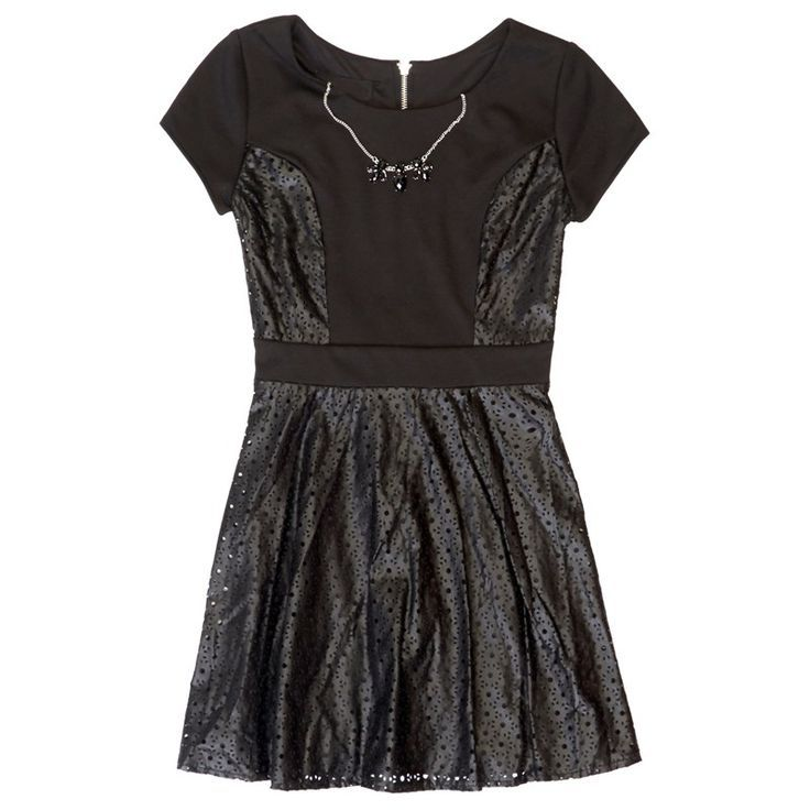 Awesome Girl Dresses Ponte Laser Cut Dress (7-16)... Check more at http://24store.ml/fashion/girl-dresses-ponte-laser-cut-dress-7-16/
