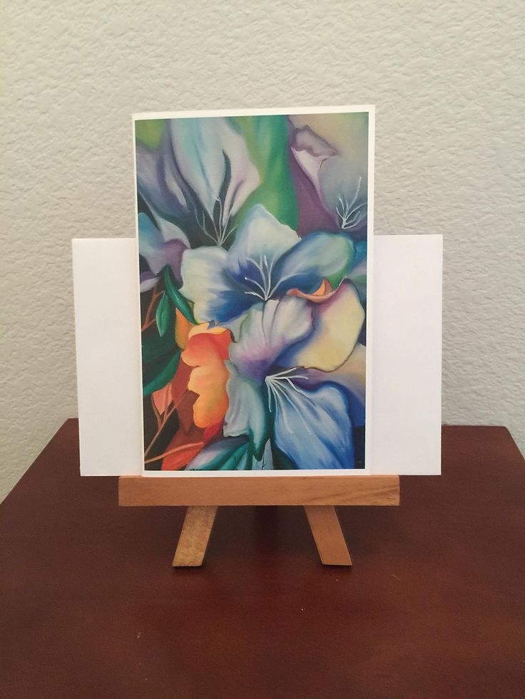 Greeting Card, Personalized Greeting Card, Happy Birthday Card, Original Artwork, Oil Painting Art, Framed Art, Custom Card, Custom Order, Frameable Cards, Flower Card, Blue Ribbon Award