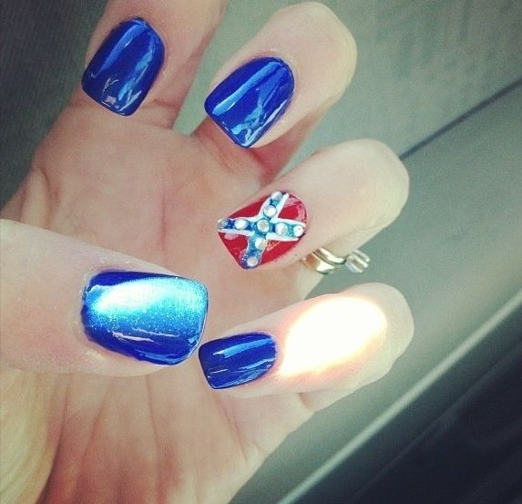 redneck nail art | Pinned by Baylee Brown
