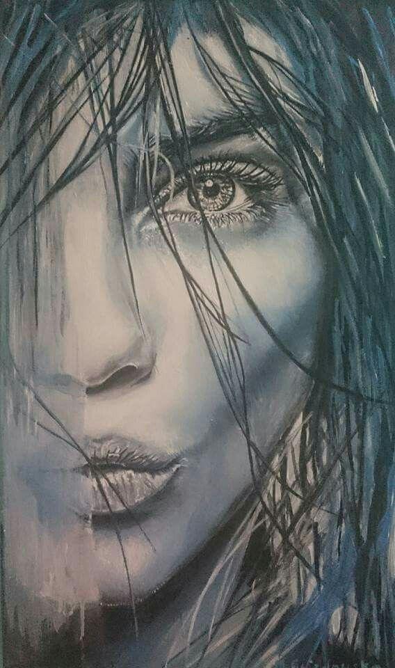 Acrylic on canvas woman
