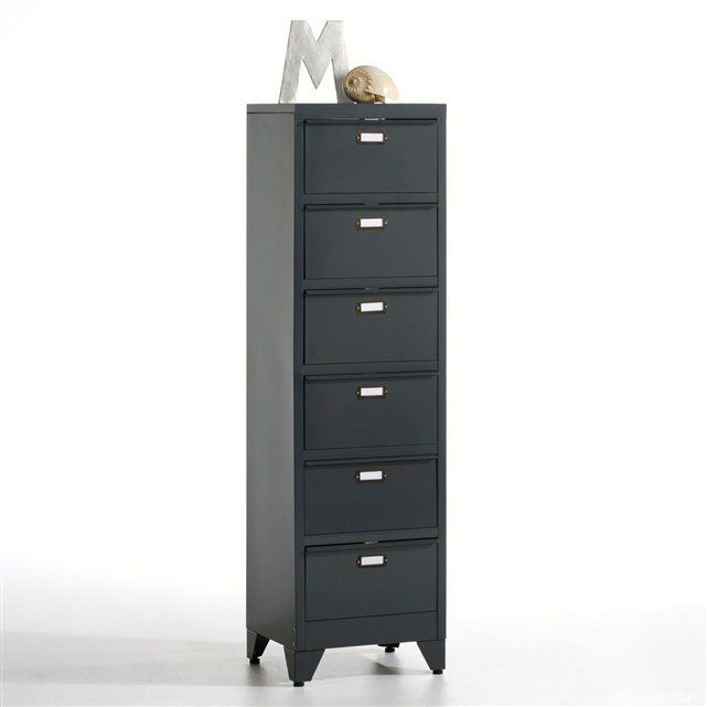 chiffonnier clapets en m tal hiba la redoute interieurs. Black Bedroom Furniture Sets. Home Design Ideas