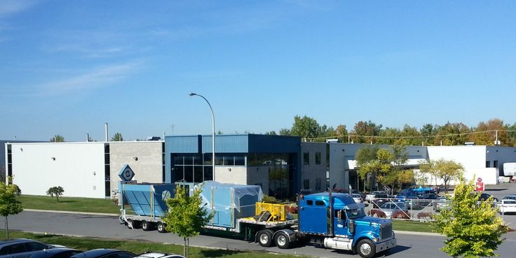 SBM Belfab Dust collector being delivered to  our new manufacturing facilities !